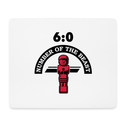 6:0 Number of the beast | KickerShirt - Mousepad (Querformat)