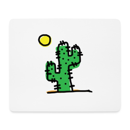 Cactus single - Tappetino per mouse (orizzontale)