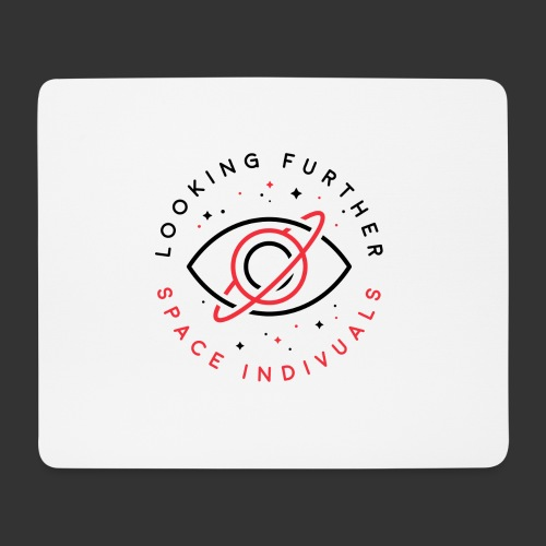 Space Individuals - Looking Further White - Mouse Pad (horizontal)