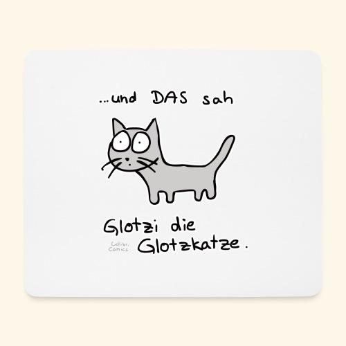 Glotzi die Glotzkatze - Mousepad (Querformat)