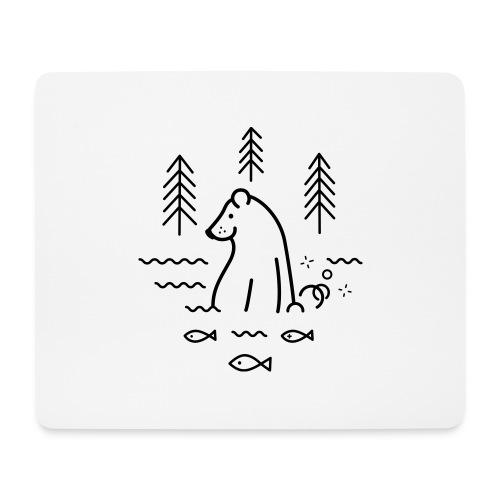 ours qui péte dans l'eau - Tapis de souris (format paysage)
