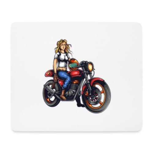 Girl on Bike - Mouse Pad (horizontal)