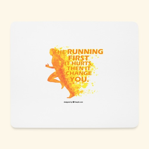 Motivo _ The Running First it Hurts - Tappetino per mouse (orizzontale)