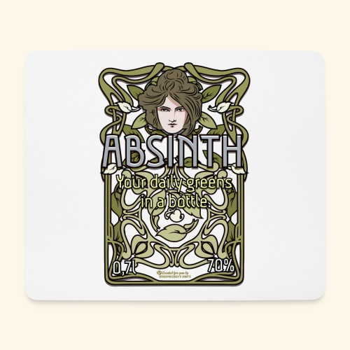 Absinth Your Daily Greens in a Bottle Art Nouveau - Mousepad (Querformat)
