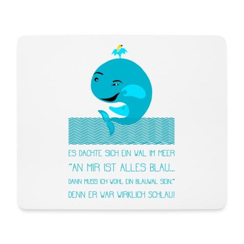 Blauwal - Mousepad (Querformat)