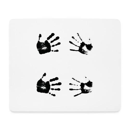 Schwarze Handabdrücke. Geschenk - Tappetino per mouse (orizzontale)