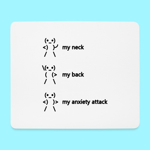 neck back anxiety attack - Mouse Pad (horizontal)