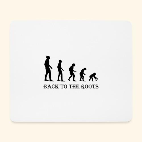 Wurzel der Menschheit Rückentwicklung Rückschritt - Mousepad (Querformat)