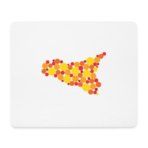 logo sicilia piccolo - Tappetino per mouse (orizzontale)