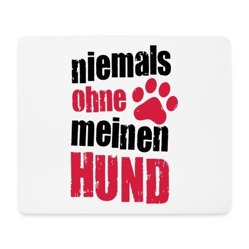 Vorschau: niemals ohne meinen hund - Mousepad (Querformat)