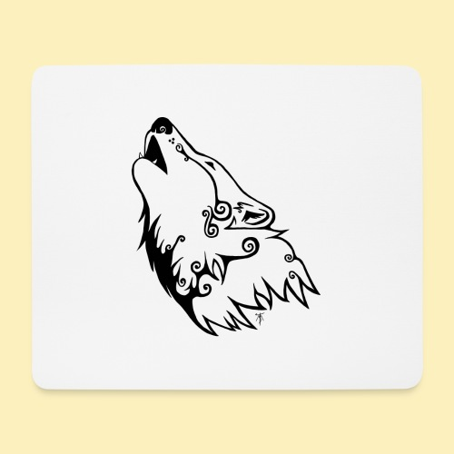 Le Loup de Neved (version traits) - Tapis de souris (format paysage)