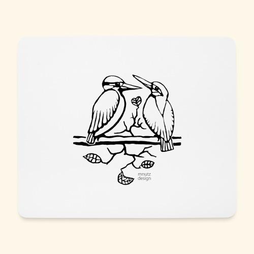 Eisvogel Liebe - Mousepad (Querformat)