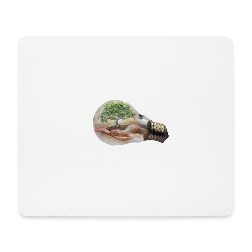 Baum und fliege in einer Glühbirne Geschenkidee - Mousepad (Querformat)