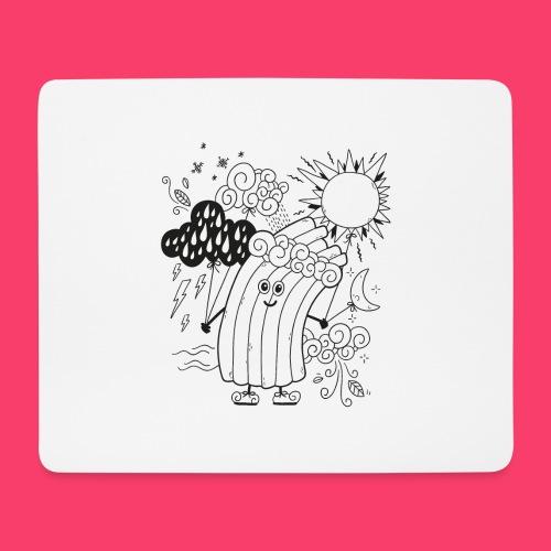 Rudi Regenbogen Wetter-Motiv zum Ausmalen - Mousepad (Querformat)