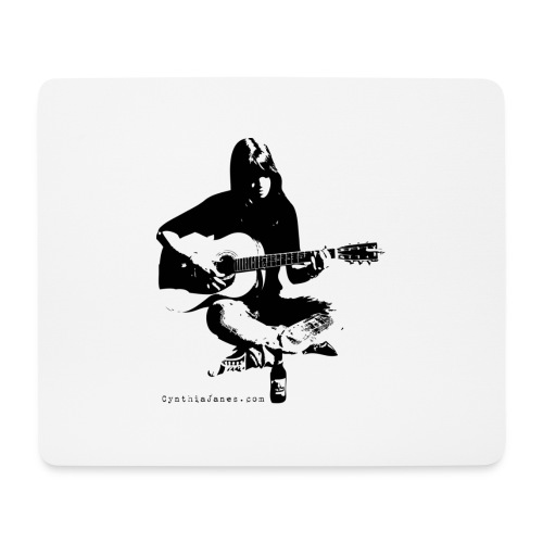Cynthia Janes guitar BLACK - Mouse Pad (horizontal)