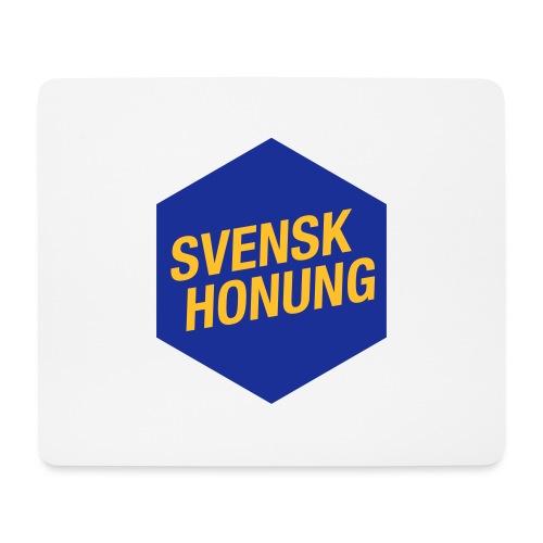 Svensk honung Hexagon Blå/Gul - Musmatta (liggande format)