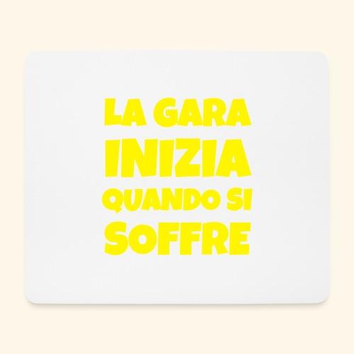Frase Ironica - La Gara Inizia - FLAT - Tappetino per mouse (orizzontale)