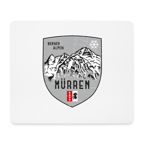 Eiger, Mönch und Jungfrau mit Mürren Flagge - Mouse Pad (horizontal)