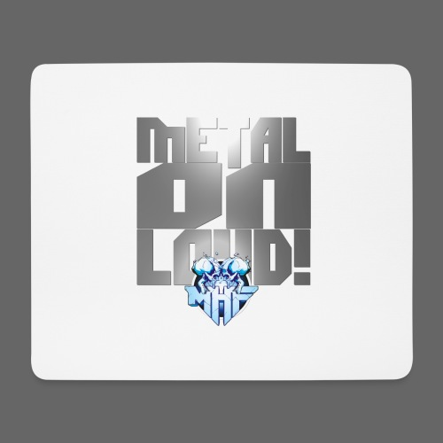 metalonloud large 4k png - Mouse Pad (horizontal)