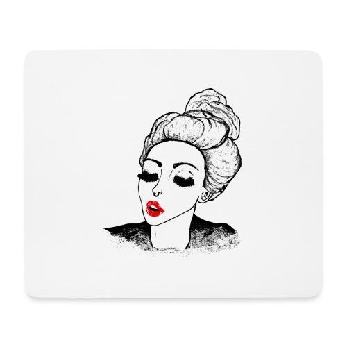 Vintage Retro Girl Kiss message - Mouse Pad (horizontal)