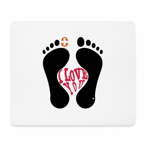 Barfuss-Logo i love you - Mousepad (Querformat)