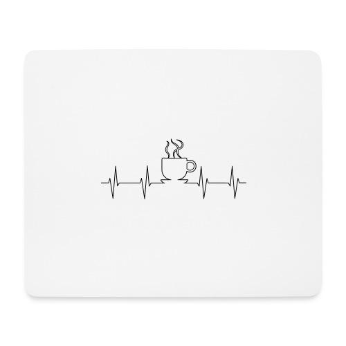 EKG Kaffee - Mousepad (Querformat)