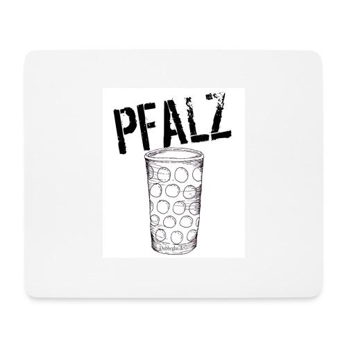 Pfalzshirt mit Dubbeglas, weiß - Mousepad (Querformat)