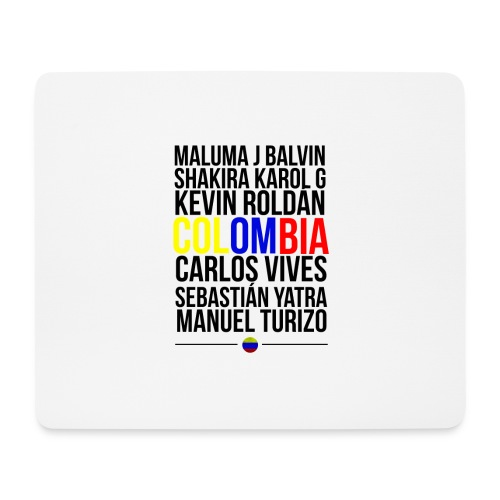 Reggaeton Shirt Kolumbien - Mousepad (Querformat)