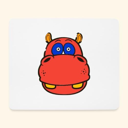 Flusspferd - Mousepad (Querformat)