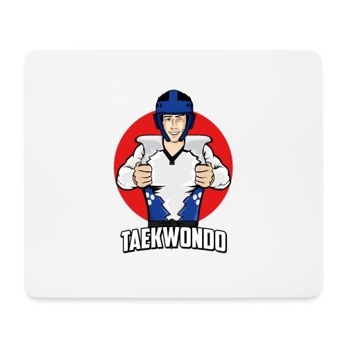 Nouveau Design Taekwondo Dessin Animé Cartoon - Tapis de souris (format paysage)