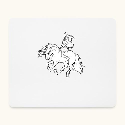 Monter une sorcière sexy sur une licorne. - Tapis de souris (format paysage)
