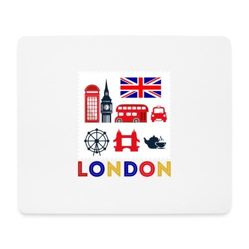 Vintage London Souvenir - Retro Briefmarke London - Mousepad (Querformat)