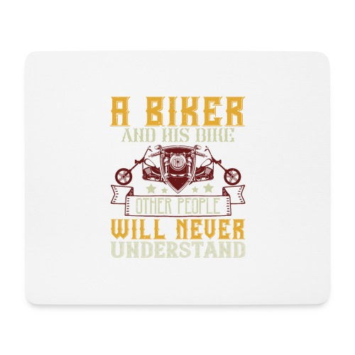 A biker and his bike. - Mouse Pad (horizontal)