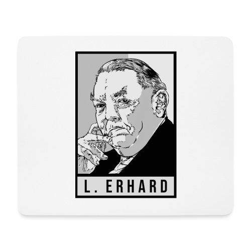 Ludwig Erhard (CDU) - Mousepad (Querformat)