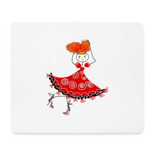 Ballerina - Tappetino per mouse (orizzontale)