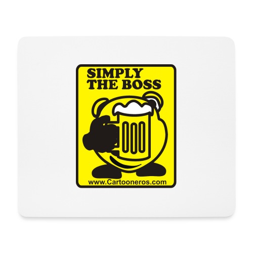 Simply the Boss - Mouse Pad (horizontal)