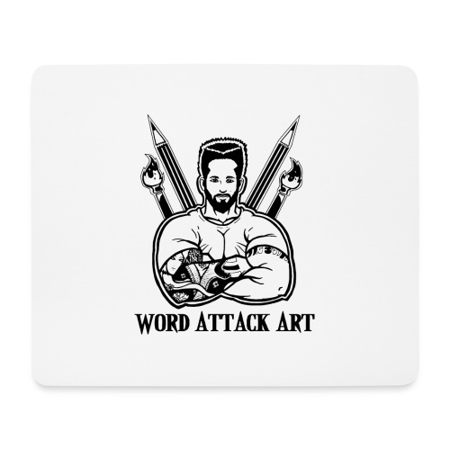 Word Attack Art - Mousepad (Querformat)