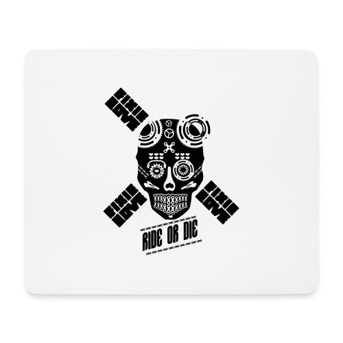 skull riding ride or die - Tapis de souris (format paysage)