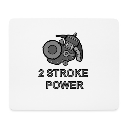 2 stroke power - Tappetino per mouse (orizzontale)