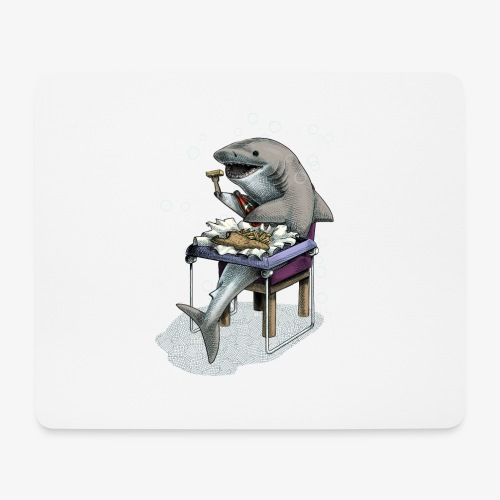 Shark's Fish and Chip dinner - Mouse Pad (horizontal)