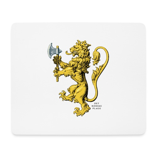 Den norske løve i gammel versjon - Musematte (liggende format)