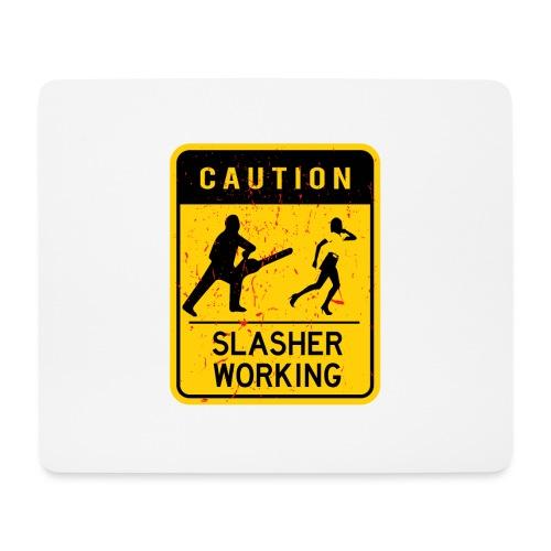 Slasher working - Tapis de souris (format paysage)