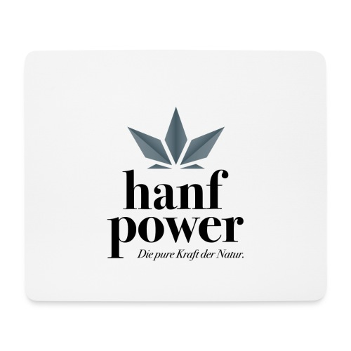 Hanf Power Logo - Mousepad (Querformat)