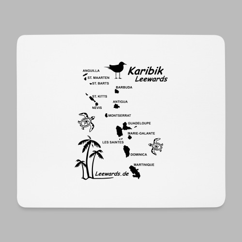Karibik Leewards Segeln Leward Islands - Mousepad (Querformat)