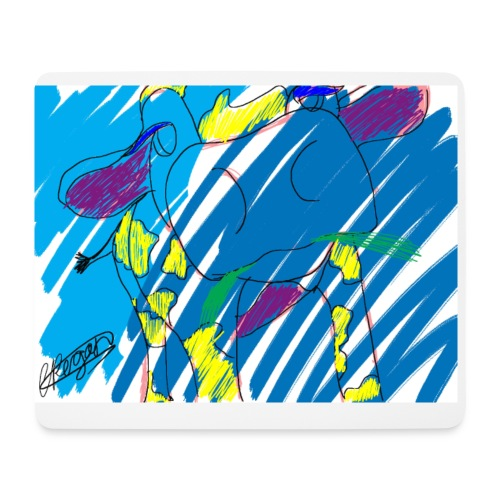 Signed Rainbow Cow - Mouse Pad (horizontal)