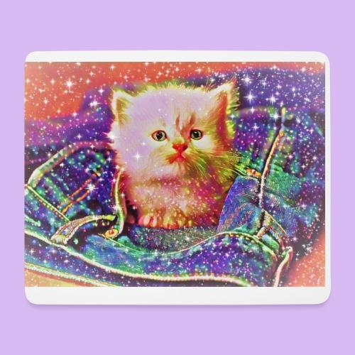 Gattino scintillante nella tasca dei jeans - Tappetino per mouse (orizzontale)