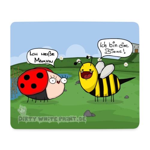 Mousepad Biene und Marvin png - Mousepad (Querformat)