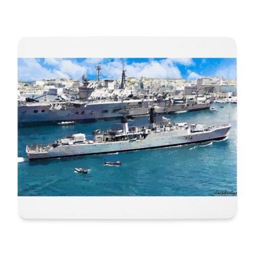 leopard and eagle oil1 - Mouse Pad (horizontal)