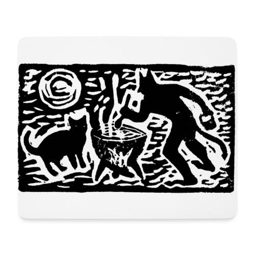 Teufel mit Katze - Mousepad (Querformat)