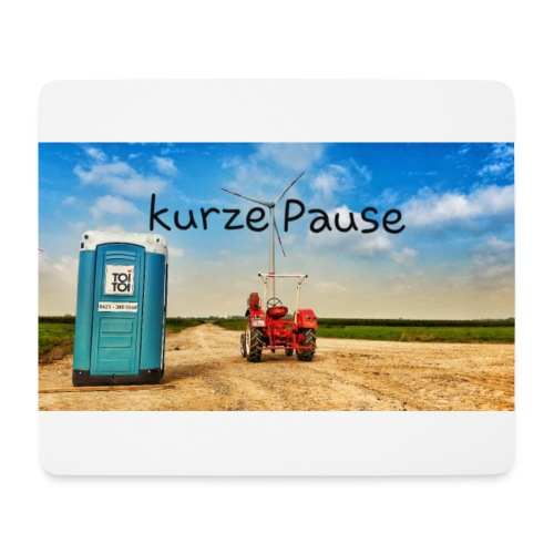 kurze Pause - Mousepad (Querformat)